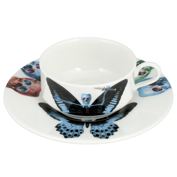 The New English:Lepidoptera Putulanus Mocha Cup & Saucer