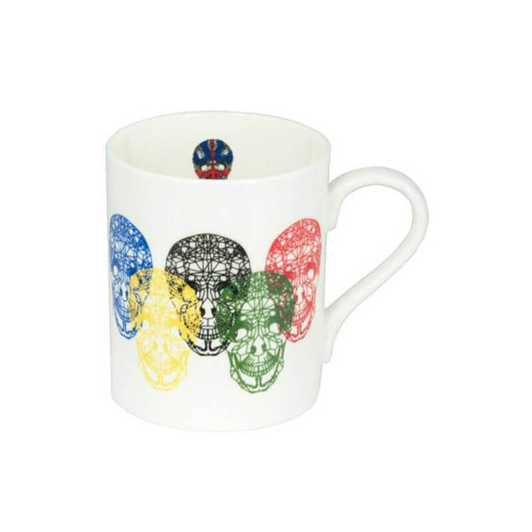 The New English:Skullympics Mug (round handle)