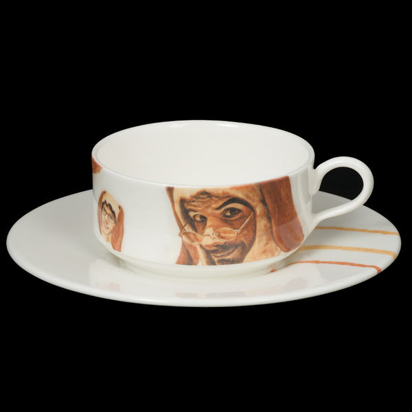 The New English:Francois Escamel - Mocha Cup and Saucer No. 3