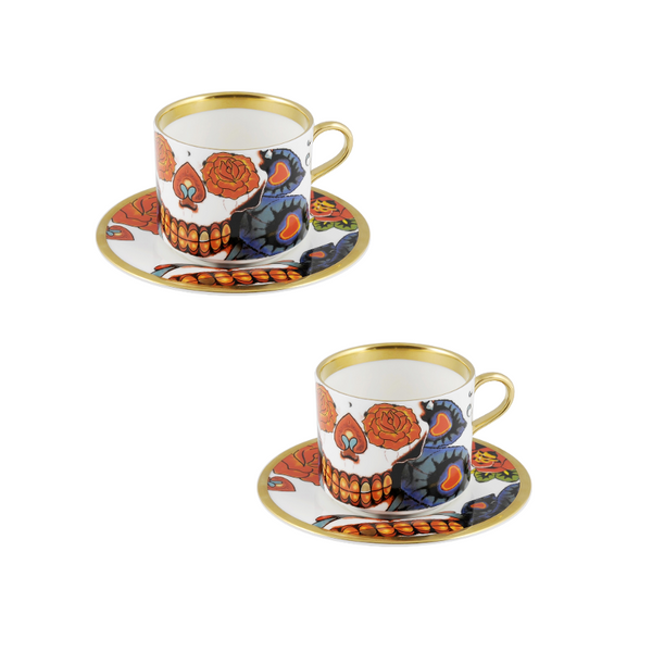 The New English:Inkhead Latte Cup & Saucer Set of 2