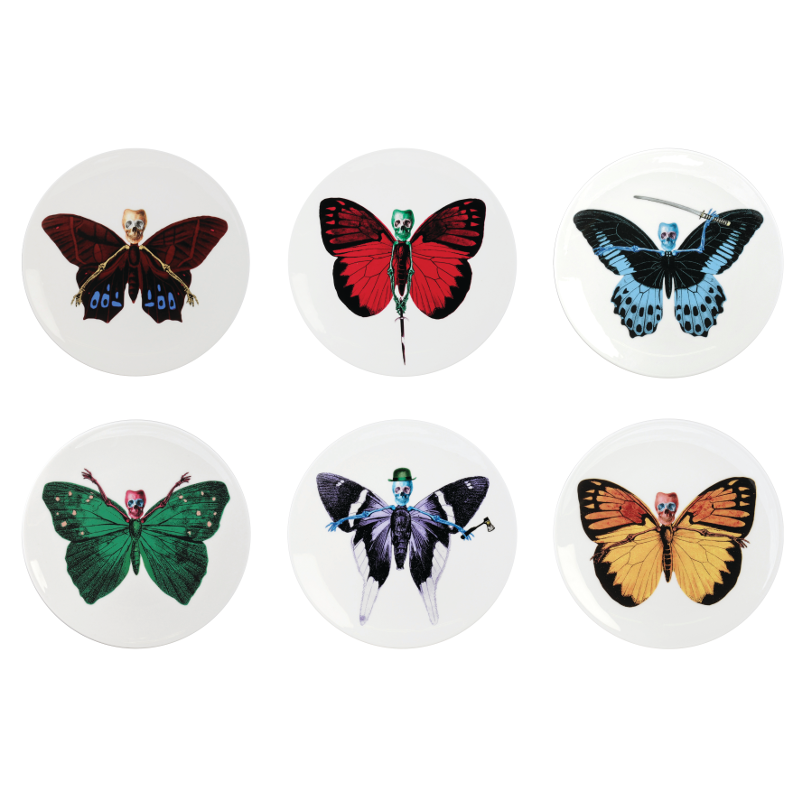 The New English:Lepidoptera - Cake Plate Gift Set