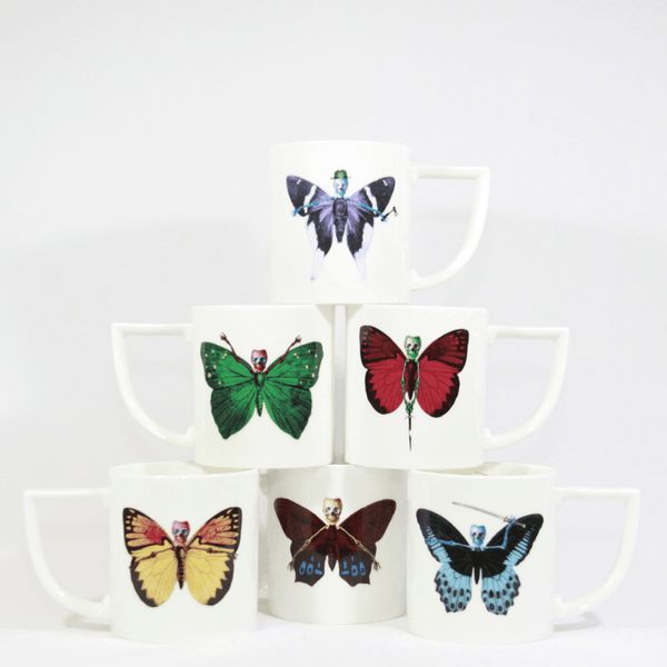 The New English:Lepidoptera - 6 Mug Gift Set