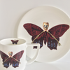 The New English:Lepidoptera - 'Profundus' Mug & Cake Plate Set