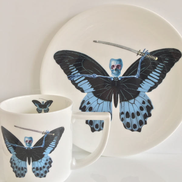 The New English:Lepidoptera - 'Putulanus' Mug & Cake Plate Set