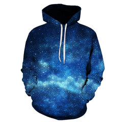 3D Space Blue Galaxy Hoodies - Stashirt