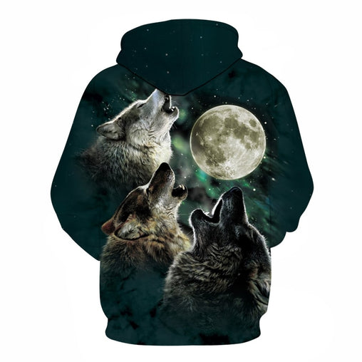 3D Wolf Pritned Hoodies - Stashirt