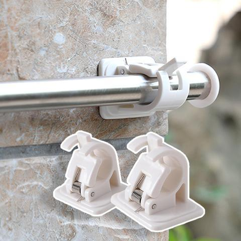 Drill-Free Curtain Rod Bracket Holder