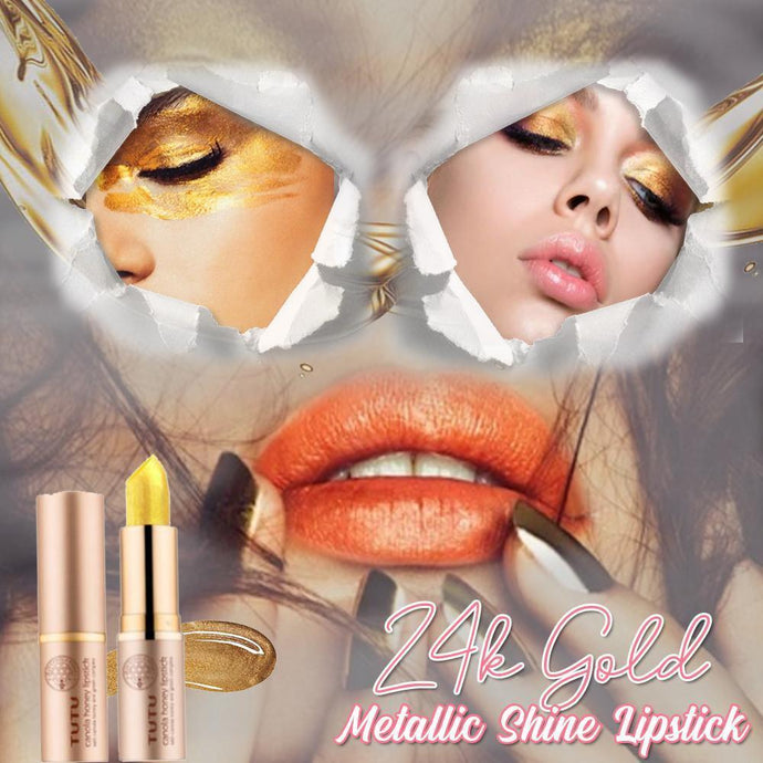24k Gold Metallic Shine Lipstick