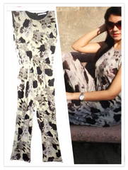 Black Amp Grey Floral Jumpsuit