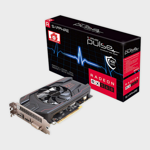 Sapphire Pulse RadeonTM RX 560 4GB GDDR5 OC Graphics Card-Sapphire-computerspace