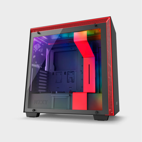 NZXT H700I (E-ATX) MID TOWER CABINET (Black and Red)-computerspace