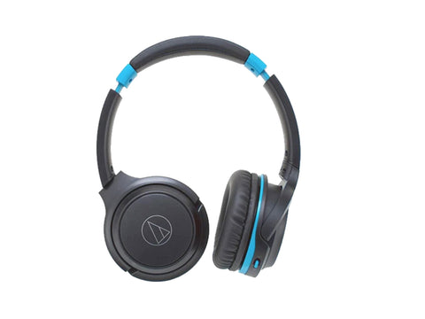 AUDIO TECHNICA WIRELESS ON EAR HEADPHONES WITH MIC(Grey/Blue)-computerspace