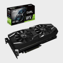 ASUS Dual GeForce® RTX 2080 Ti OC edition 11GB GDDR6 Graphics Card-ASUS-computerspace