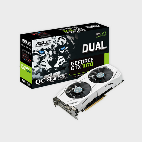ASUS Dual series GeForce® GTX 1070 OC edition 8GB GDDR5 Graphics Card-ASUS-computerspace