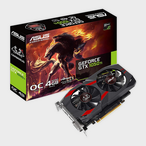 ASUS Cerberus GeForce GTX 1050 Ti 4GB OC Edition GDDR5 Gaming Graphics Card-ASUS-computerspace