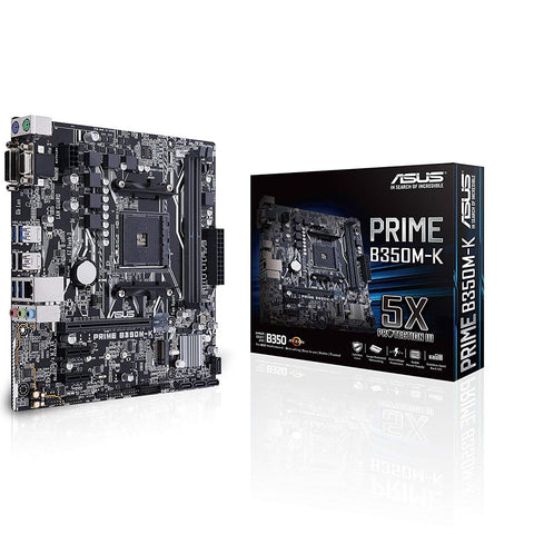 ASUS PRIME B350M-K SOCKET AM4 MOTHERBOARD-ASUS-computerspace