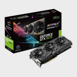 Asus GeForce GTX 1070 8GB ROG STRIX OC Edition Graphic Card-ASUS-computerspace