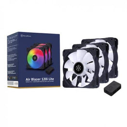 SilverStone AB120I 120mm ARGB Fan - 3 Fan Pack With ARGB Fan Controler (SST-AB120I-ARGB-3PK)