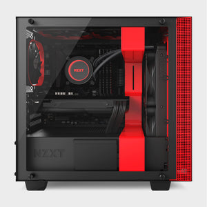 NZXT H400I MicroATX Case Matte Black and Red-computerspace