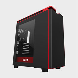 NZXT H440 Mid TowerComputer Case Matt Black/Red-computerspace