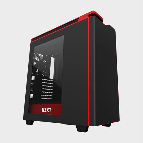 NZXT H440 Mid TowerComputer Case Matt Black/Red