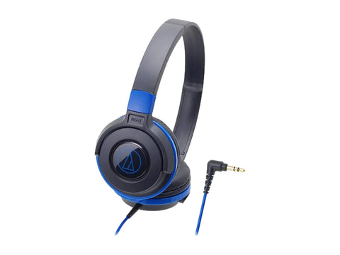 AUDIO TECHNICA STREET MONITORING OVER-EAR HEADSET- 36MM DRIVERS (BLACK/BLUE)-computerspace