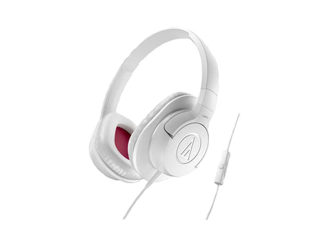 AUDIO TECHNICA SONIC FUEL OVER EAR HEADPHONES FOR SMART PHONES (White)
