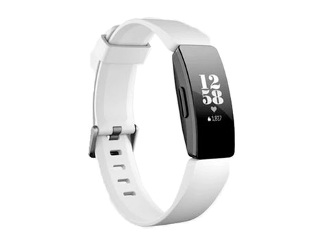 FITBIT INSPIRE HR FITNESS BAND WHITE/BLACK