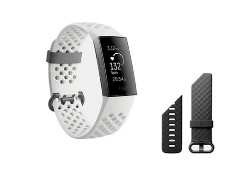 FITBIT CHARGE-3 FITNESS BAND SE FROST WHITE GRAPHITE
