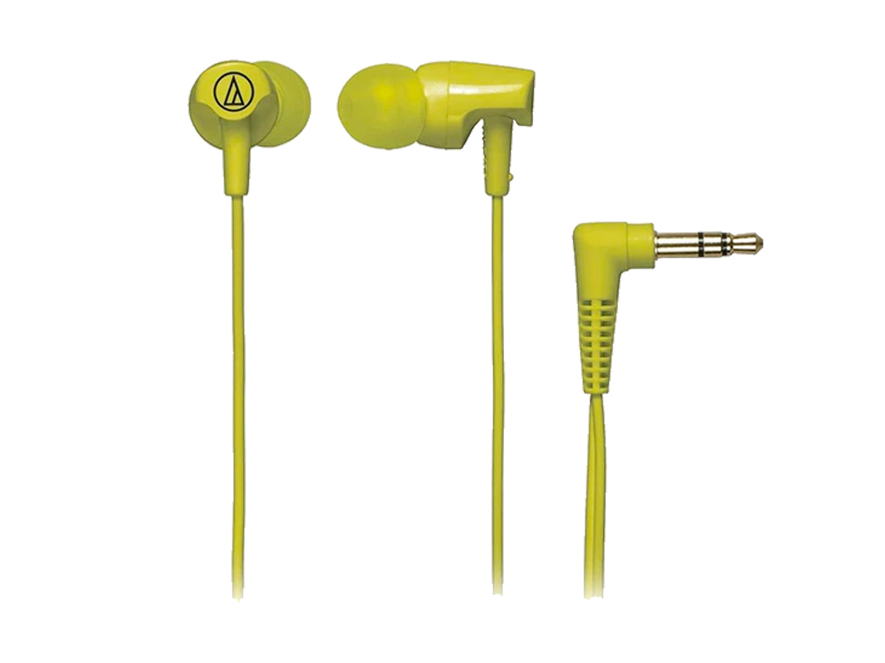AUDIO-TECHNICA IN-EAR HEADPHONE WITH CORD WRAP (Lime Green)-computerspace