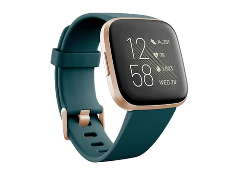 Fitbit Versa 2 Health & Fitness Smartwatch (Emerald/Copper Rose)-computerspace