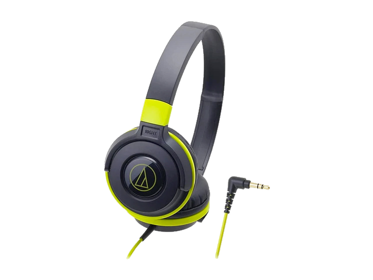 AUDIO TECHNICA STREET MONITORING OVER-EAR HEADSET- 36MM DRIVERS (BLACK/GREEN)-computerspace