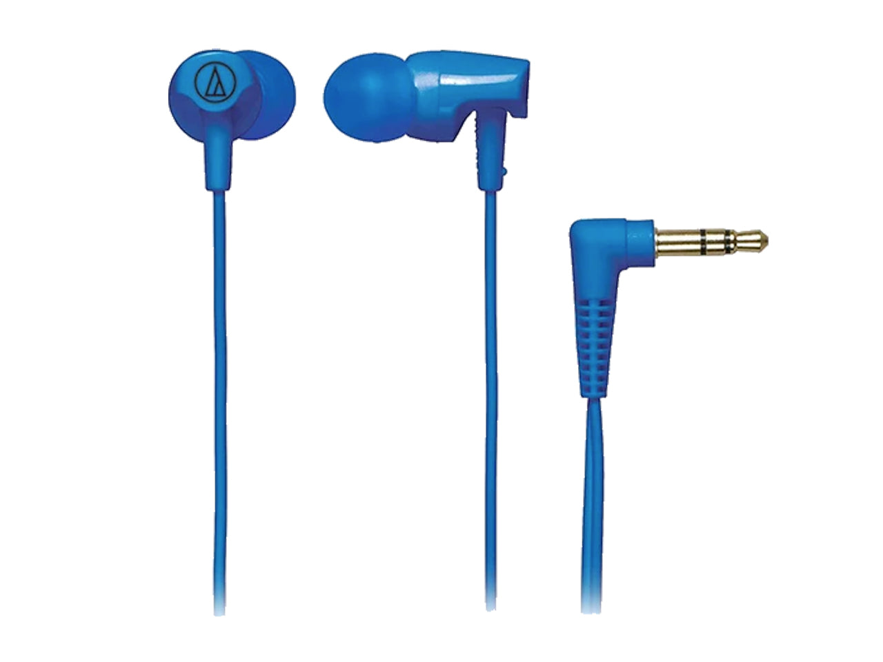 AUDIO-TECHNICA IN-EAR HEADPHONE WITH CORD WRAP (BLUE)-computerspace