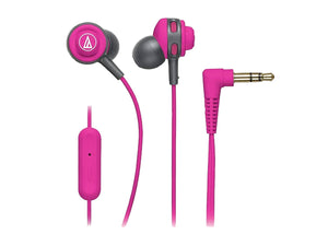 AUDIO TECHNICA SONIC SPORT IN-EAR HEADPHONE WITH MIC (Pink)-computerspace
