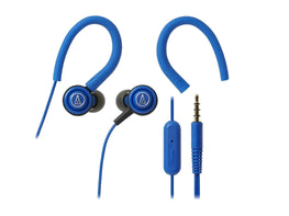 AUDIO TECHNICA SONIC SPORT IN-EAR HEADPHONE WITH MIC (Blue)-computerspace