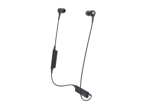AUDIO TECHNICA WIRELESS IN EAR HEADPHONES WITH MIC (Black)-computerspace