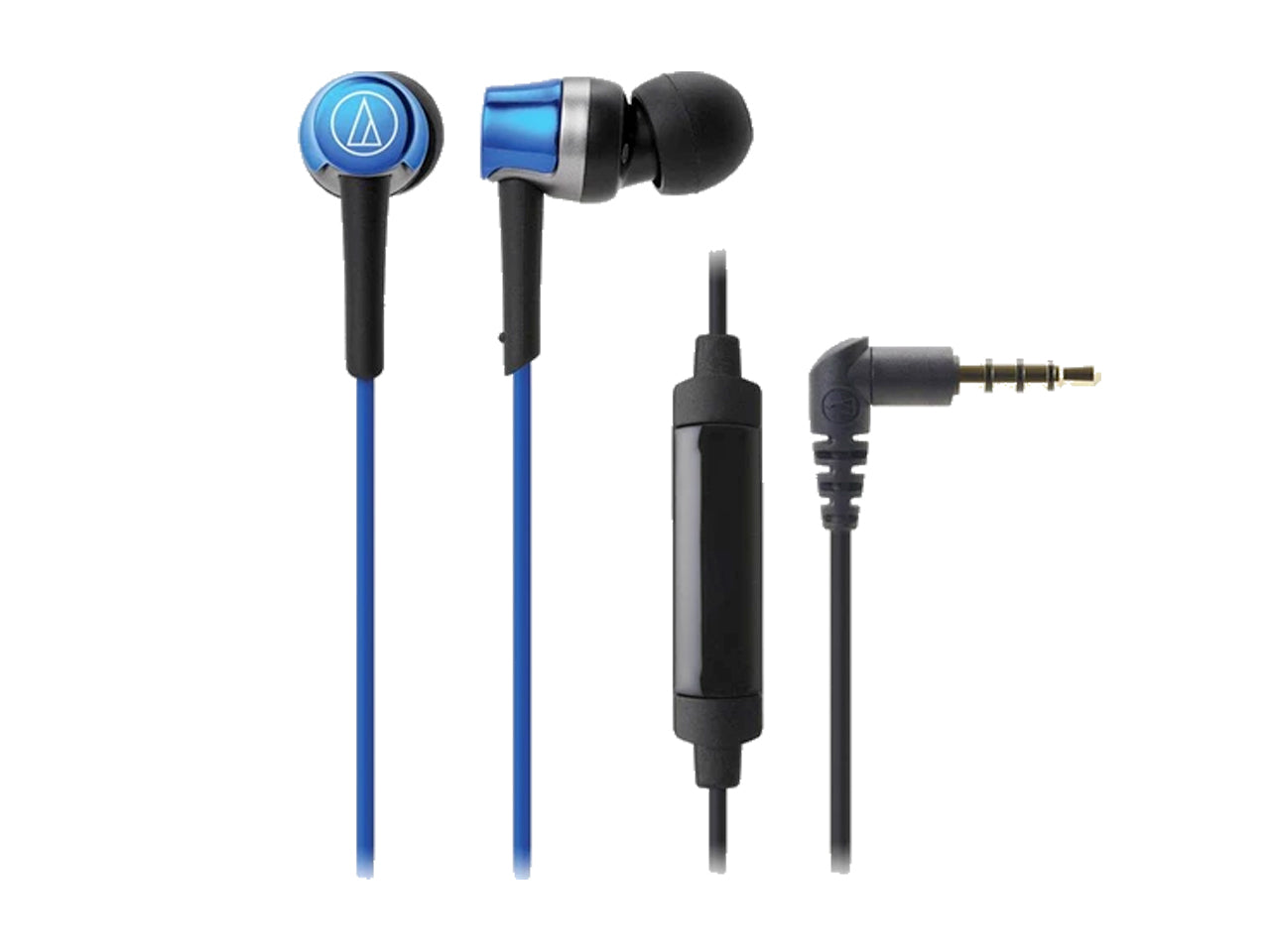 AUDIO TECHNICA SONIC FUEL IN EAR HEADPHONES WITH IN-LINE MIC and CONTROL (Blue)-computerspace