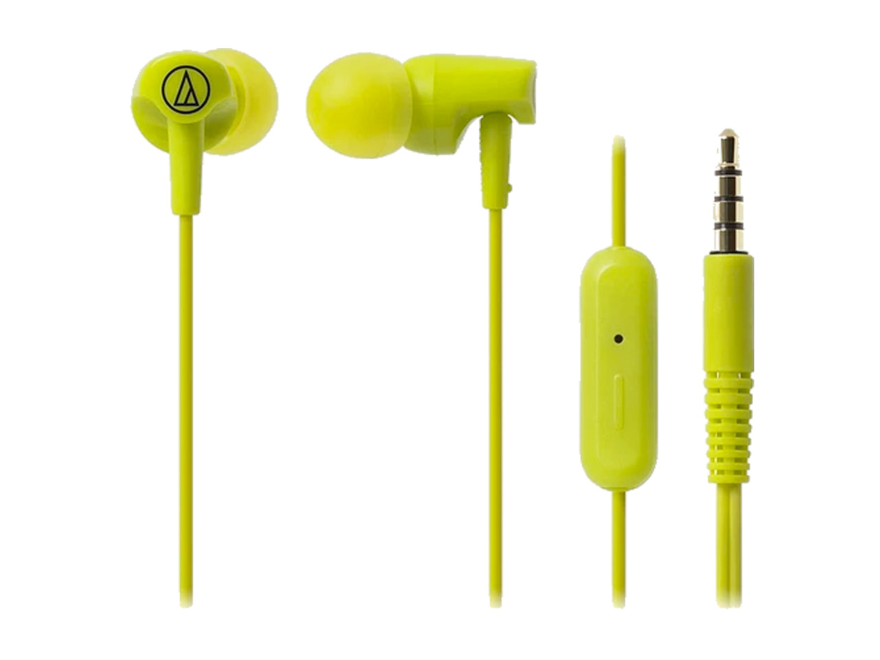 AUDIO TECHNICA SONIC FUEL IN-EAR HEADPHONE WITH MIC (LIME GREEN)-computerspace