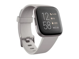 Fitbit Versa 2 Health & Fitness Smartwatch (Stone / Mist Gray Aluminum)-computerspace