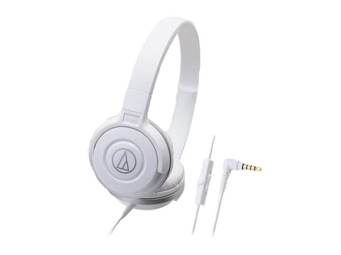 AUDIO TECHNICA OVER EAR HEADSET WITH MIC - 36MM DRIVERS (White)