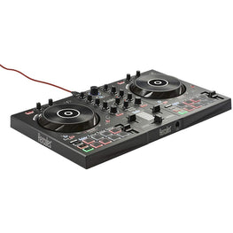 Hercules DJControl Inpulse 300 DJ controller with USB 2 tracks with 16 pads and sound card DJUCED Software and tutorials included & also compatible with Virtual DJ Pro-computerspace