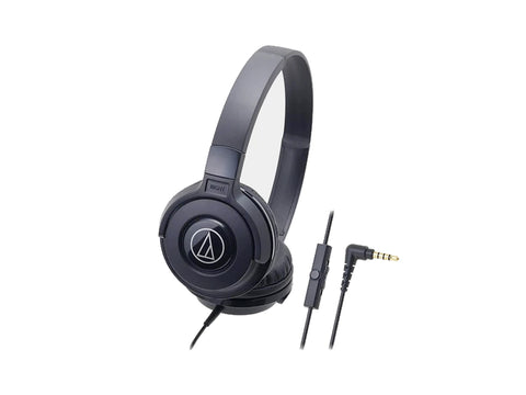 AUDIO TECHNICA OVER EAR HEADSET WITH MIC - 36MM DRIVERS (Black)