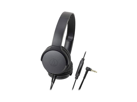AUDIO TECHNICA ON EAR HEADPHONES WITH 40 MM DRIVERS (Black)-computerspace