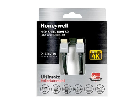 Honeywell Short Collar HDMI 2.0 3Mtr with Ethernet