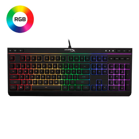 HyperX Alloy HX-KB5ME2-US Core RGB Membrane Gaming Keyboard (Black)-HYPERX-computerspace