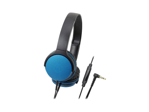 AUDIO TECHNICA ON EAR HEADPHONES WITH 40 MM DRIVERS (BLUE)-computerspace