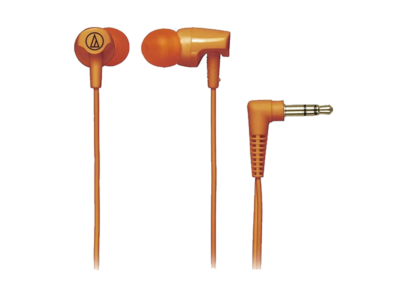 AUDIO-TECHNICA IN-EAR HEADPHONE WITH CORD WRAP (Orange)-computerspace