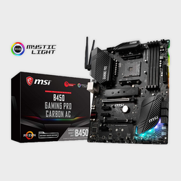 MSI B450 Gaming PRO Carbon AC Performance Gaming Motherboard-MSI-computerspace