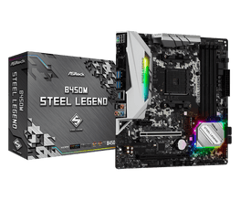ASRock B450m steel legend Motherboard