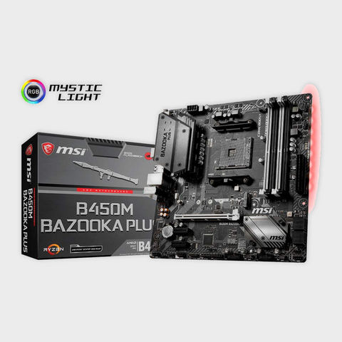MSI B450M Bazooka Plus Motherboard-MSI-computerspace